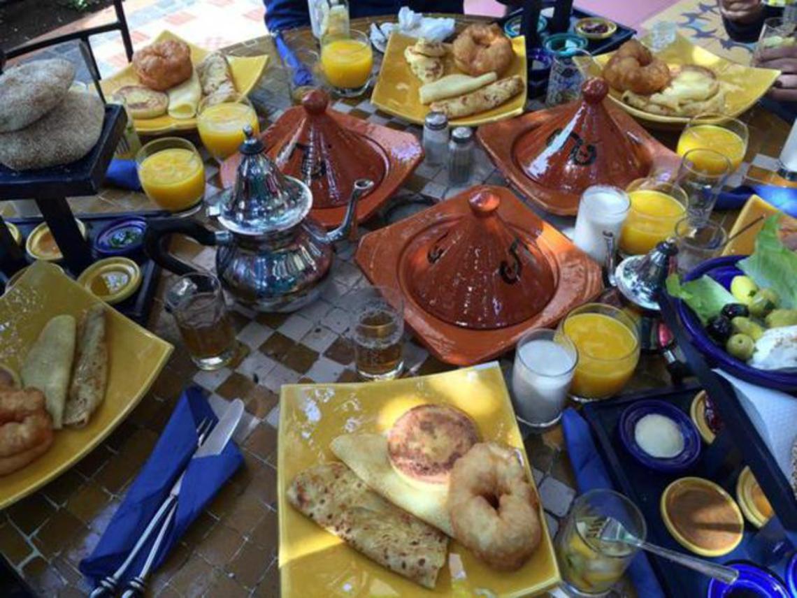 Petit-déjeuner à La Sqala