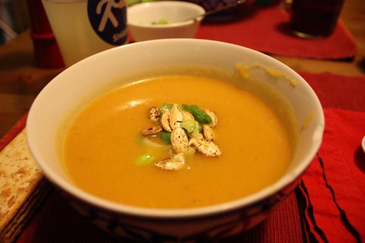 Une soupe à la citrouille