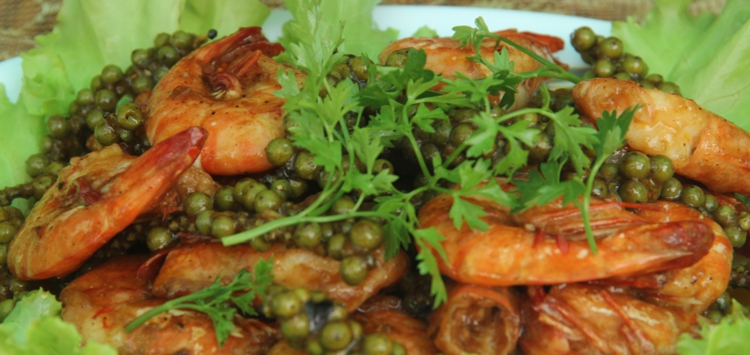 Prawns with green pepper, simply delicious (Photo credit: Johan de Faria)