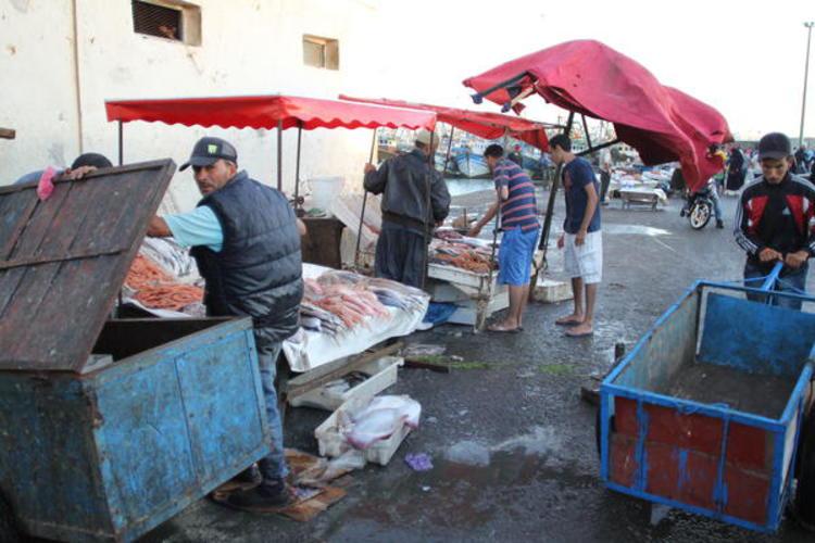 Fin de marché à Essouira